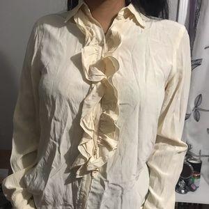 Ruffled long sleeve blouse
